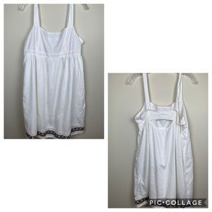 Women Hilfiger Denim White Midi Dress Size XL